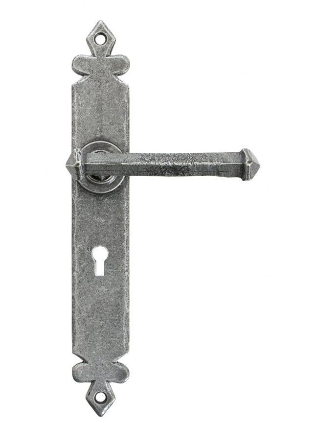 Pewter Tudor Lever Lock Set