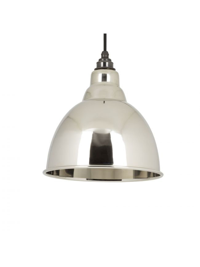 Smooth Nickel Brindley Pendant