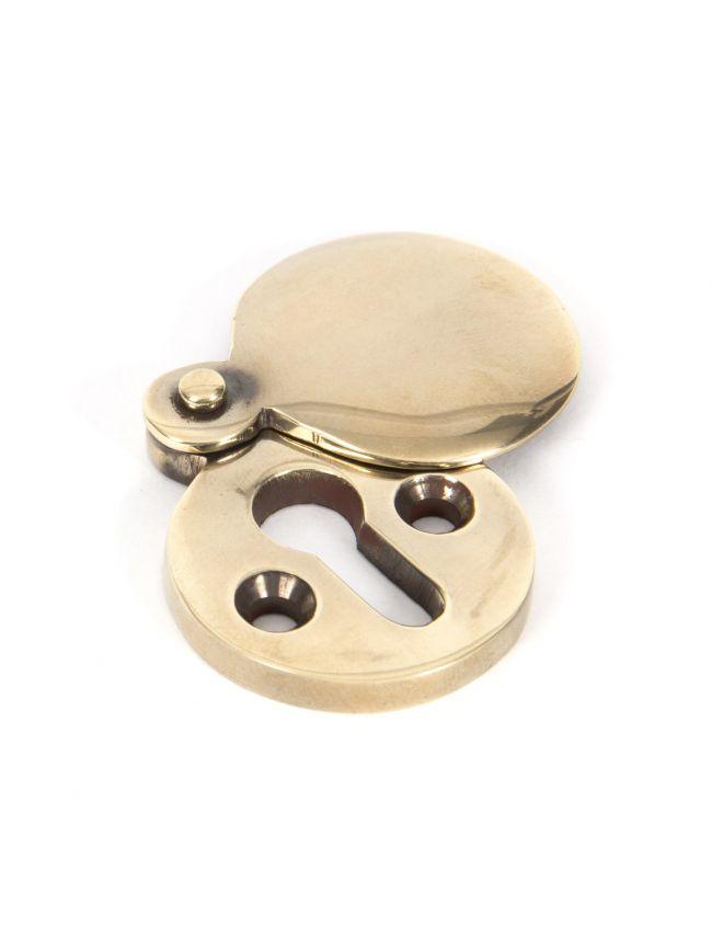 Aged Brass Round Escutcheon