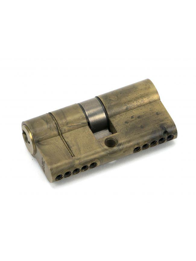 Aged Brass 30/30 5pin Euro Cylinder