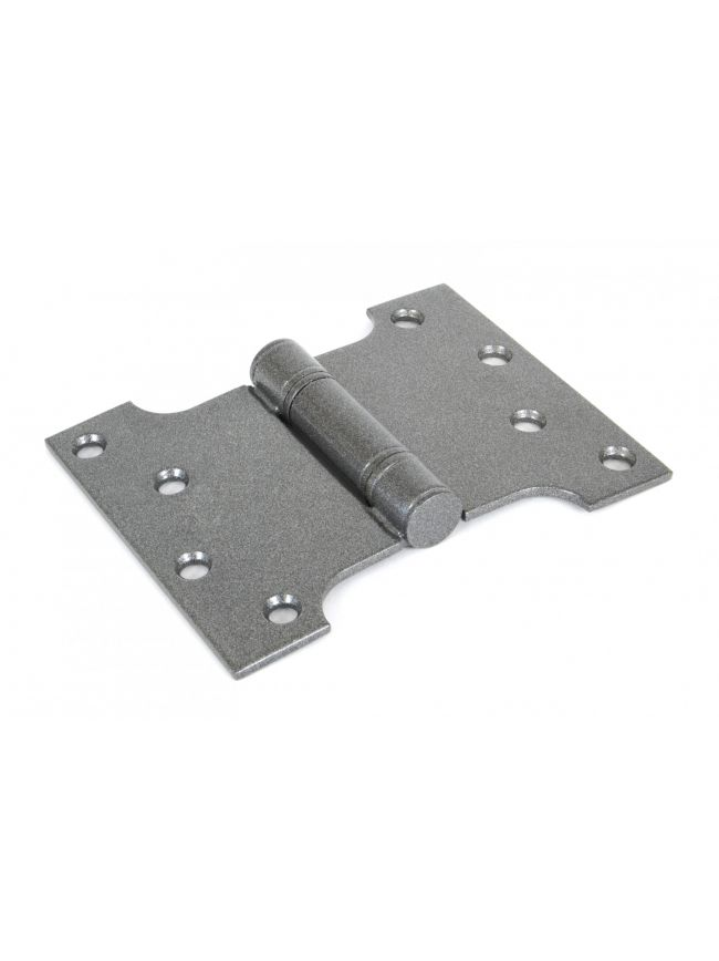 "Pewter 4"" x 3"" x 5"" Parliament Hinge (pair) ss"