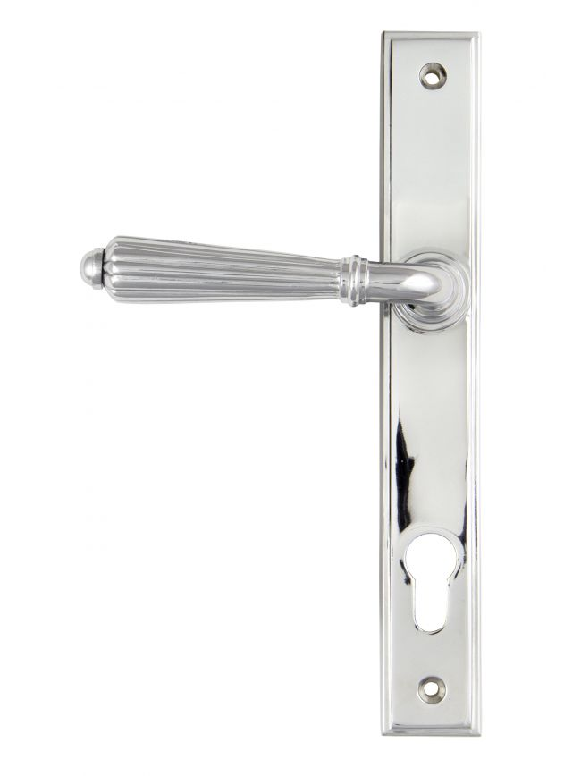 Polished Chrome Hinton Slimline Lever Espag. Lock Set