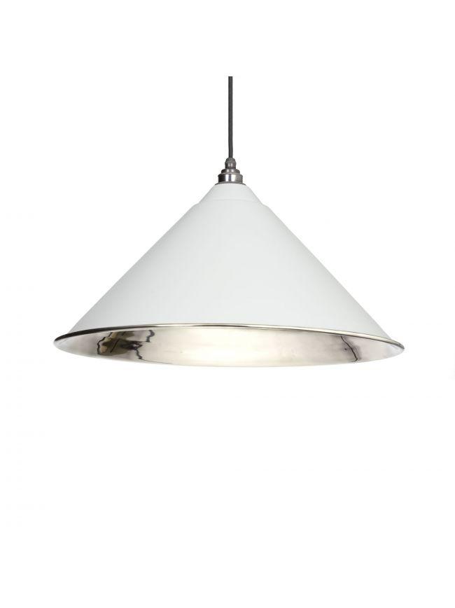 Light Grey Smooth Nickel Hockley Pendant