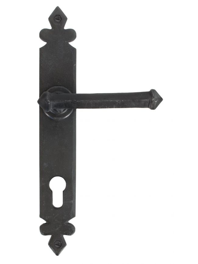 Beeswax Tudor Lever Espag. Lock Set