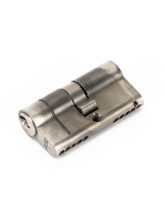 Pewter 30/30 5pin Euro Cylinder KA