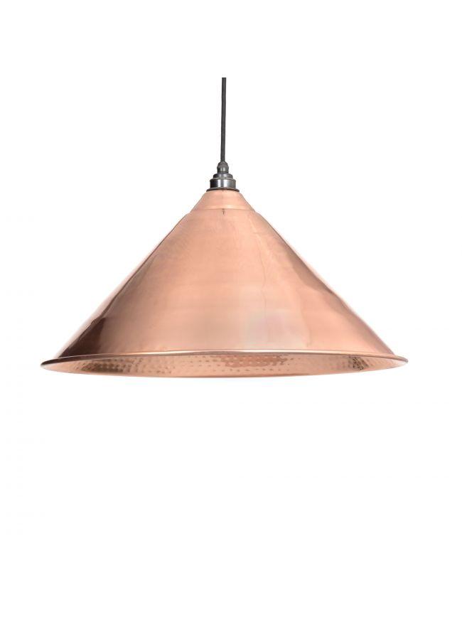 Hammered Copper Hockley Pendant