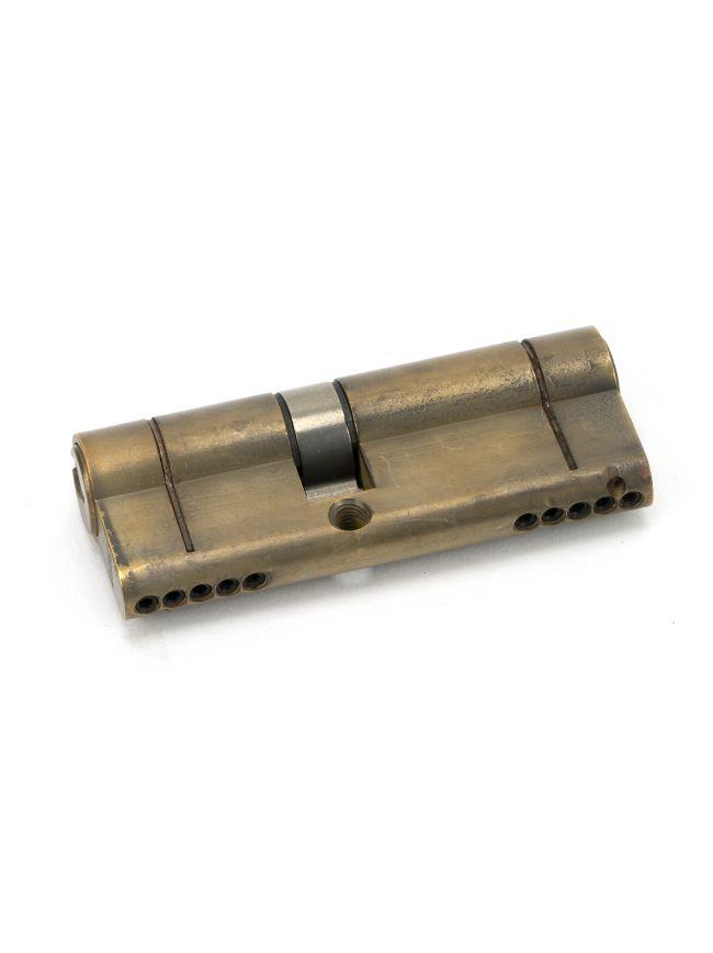 Aged Brass 35/45 5pin Euro Cylinder