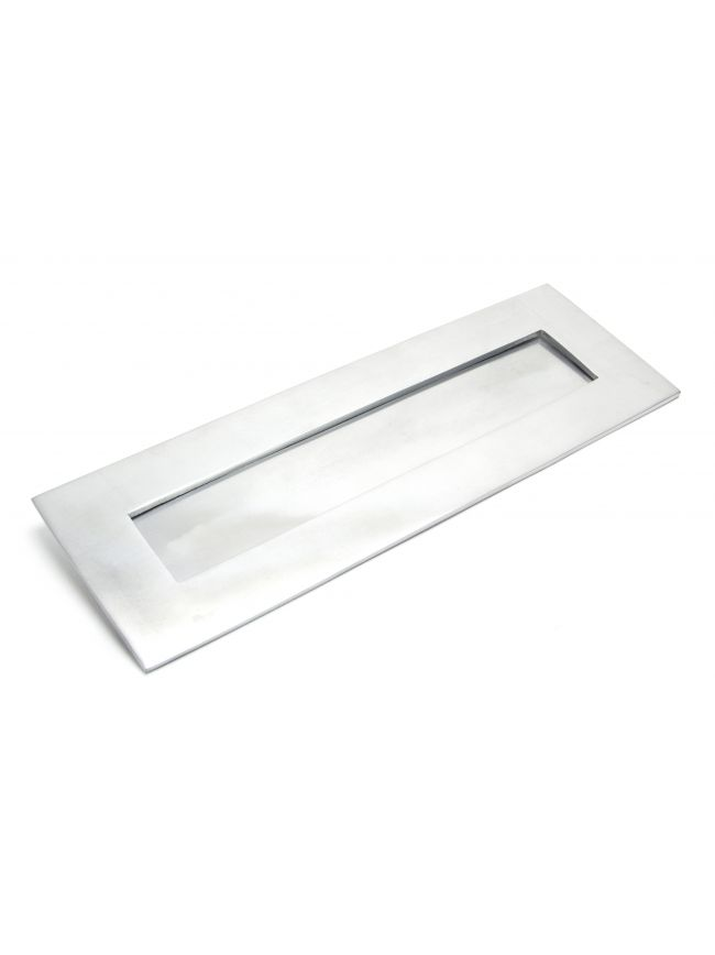 Satin Chrome Large Letter Plate