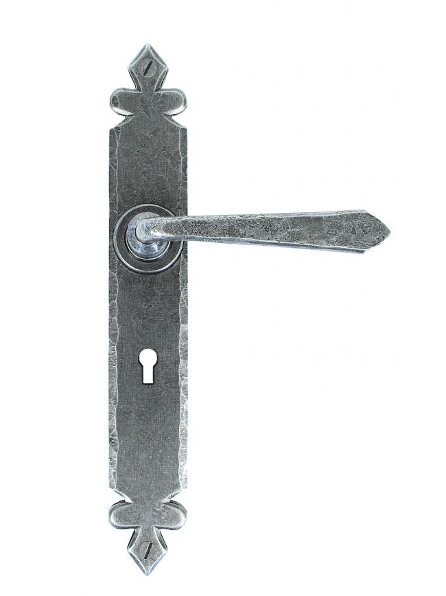 Pewter Cromwell Lever Lock Set