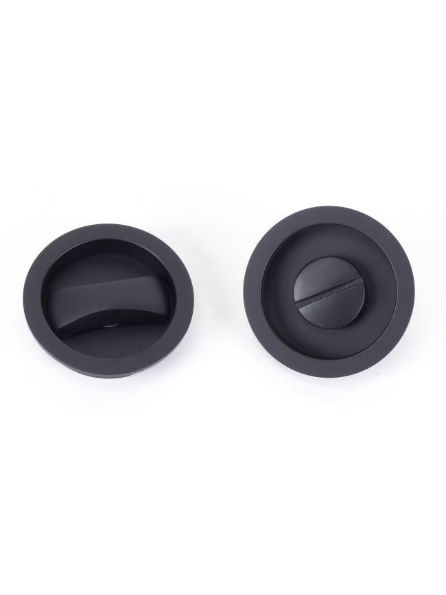 Black Sliding/Pocket Door Locking Kit