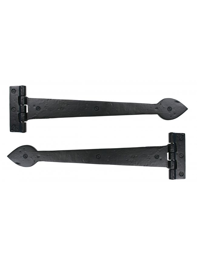 "Black Smooth 16"" T Hinge (pair)"