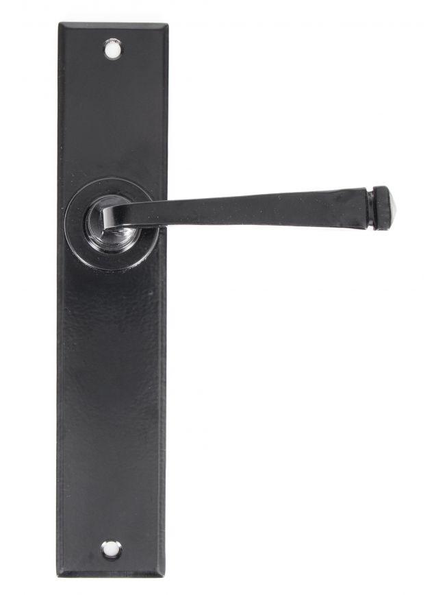 Black Large Avon Lever Latch Set