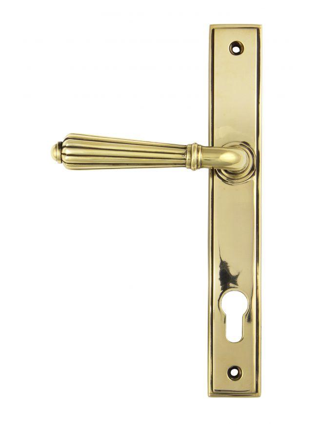 Aged Brass Hinton Slimline Lever Espag. Lock Set