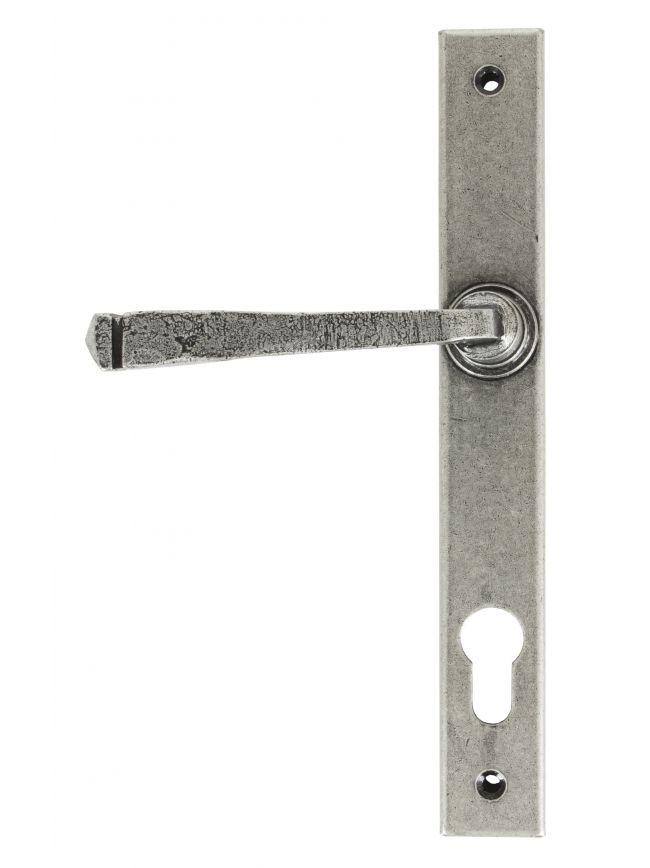 Pewter Avon Slimline Lever Espag. Lock Set