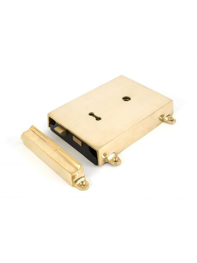 Polished Brass Rim Lock & Cover