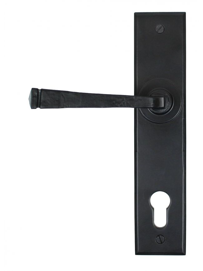 Black Avon Lever Espag. Lock Set
