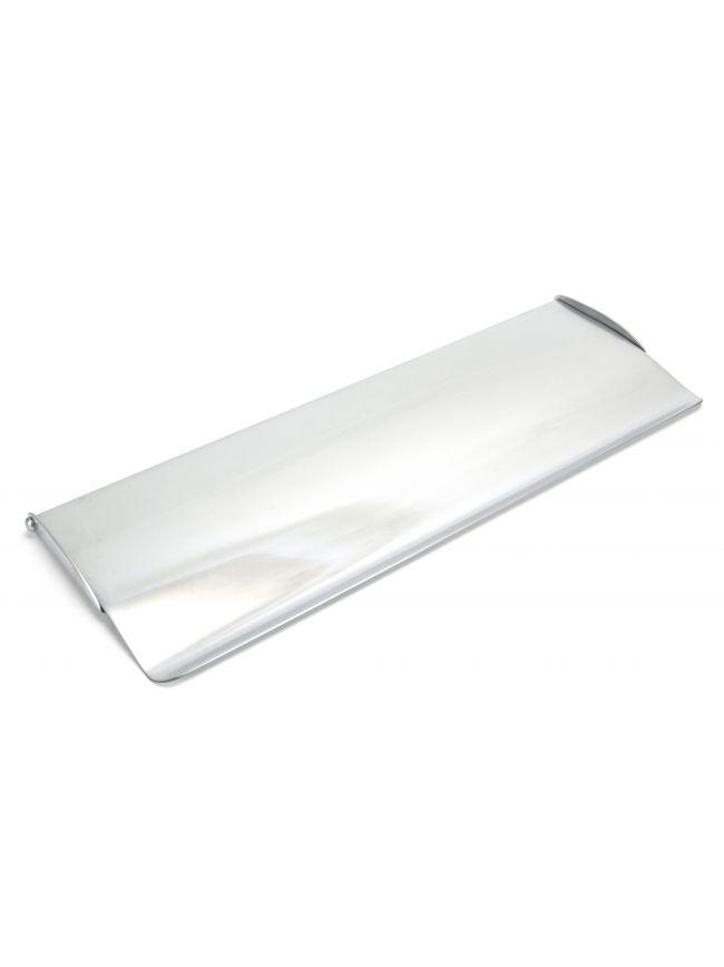 Satin Chrome Large Letter Plate Cover