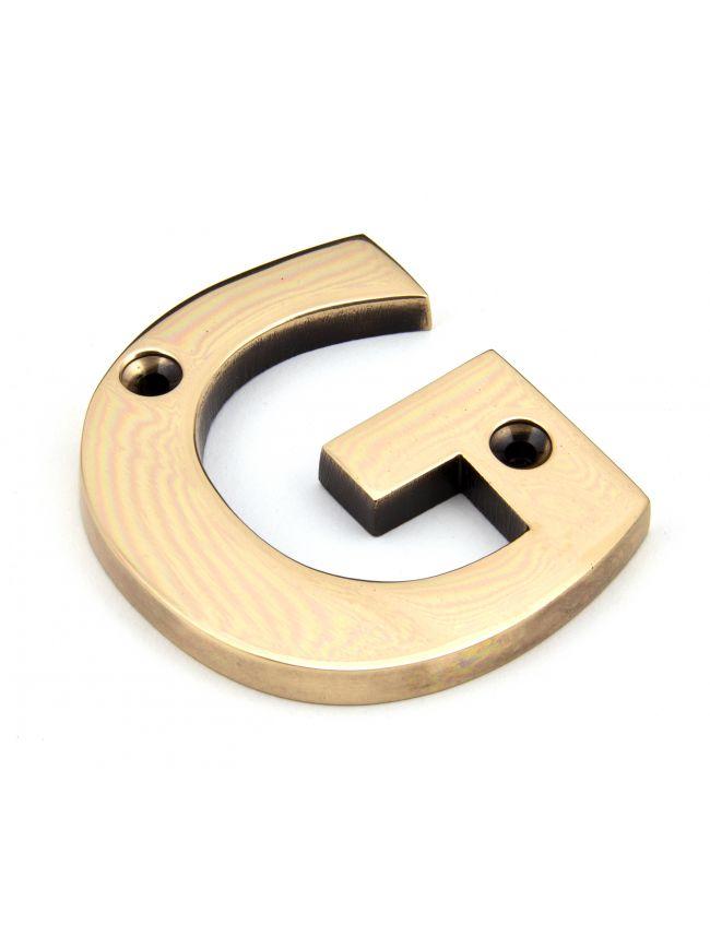 Polished Bronze Letter G