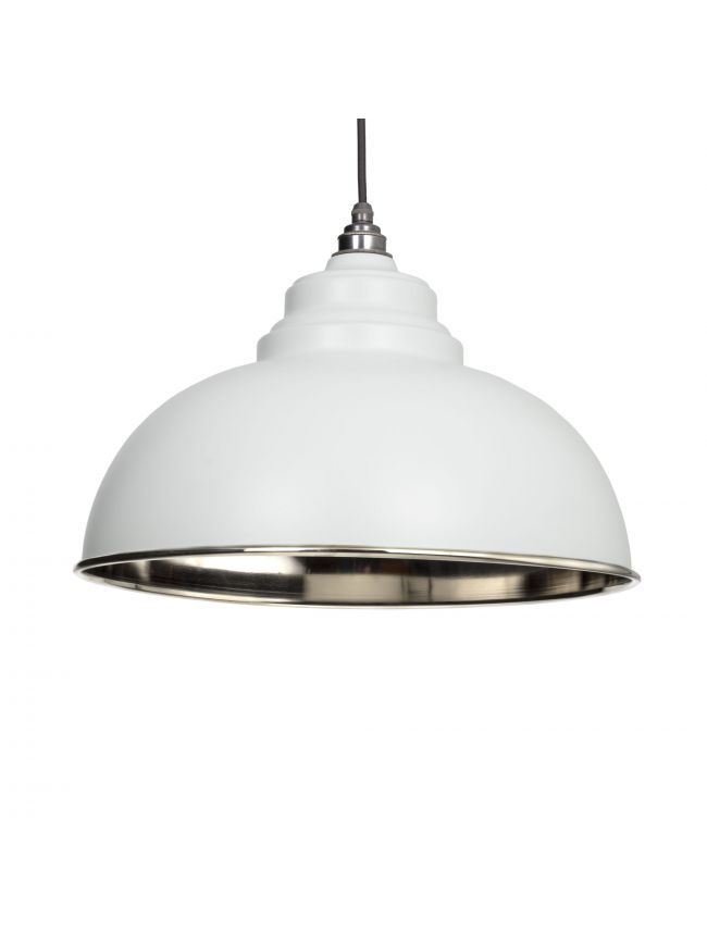 Light Grey Smooth Nickel Harborne Pendant