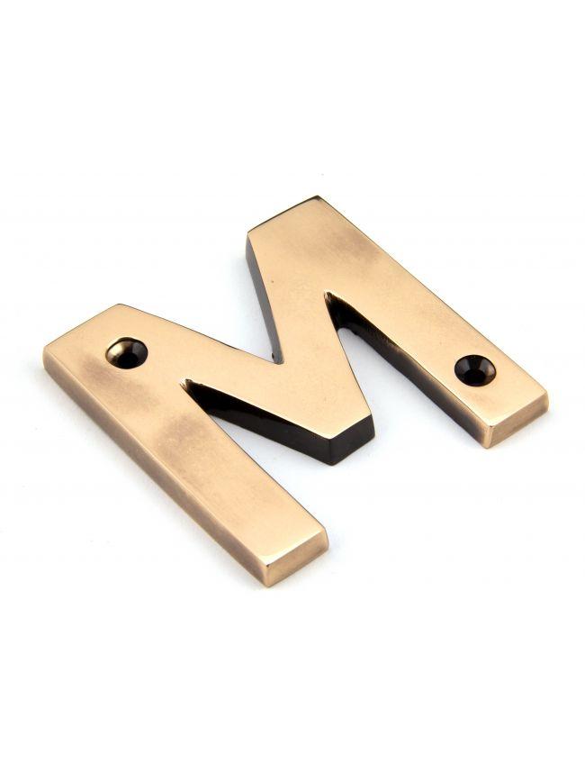 Polished Bronze Letter M