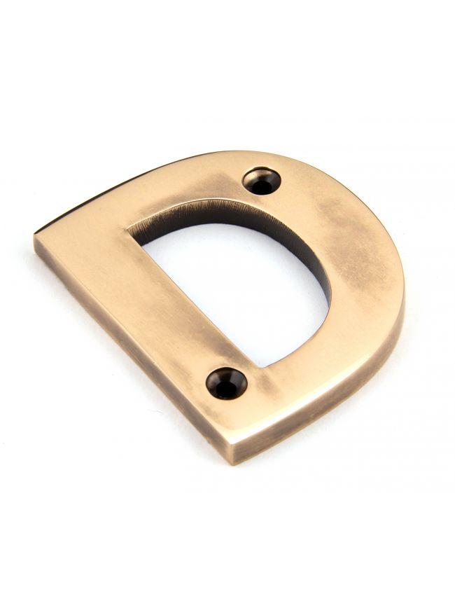 Polished Bronze Letter D