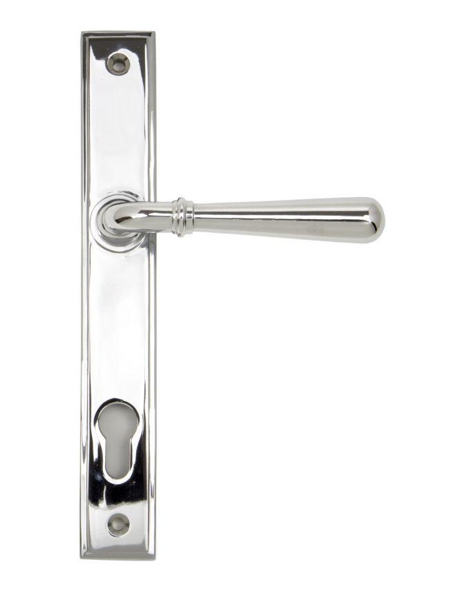 Polished Chrome Newbury Slimline Lever Espag. Lock Set