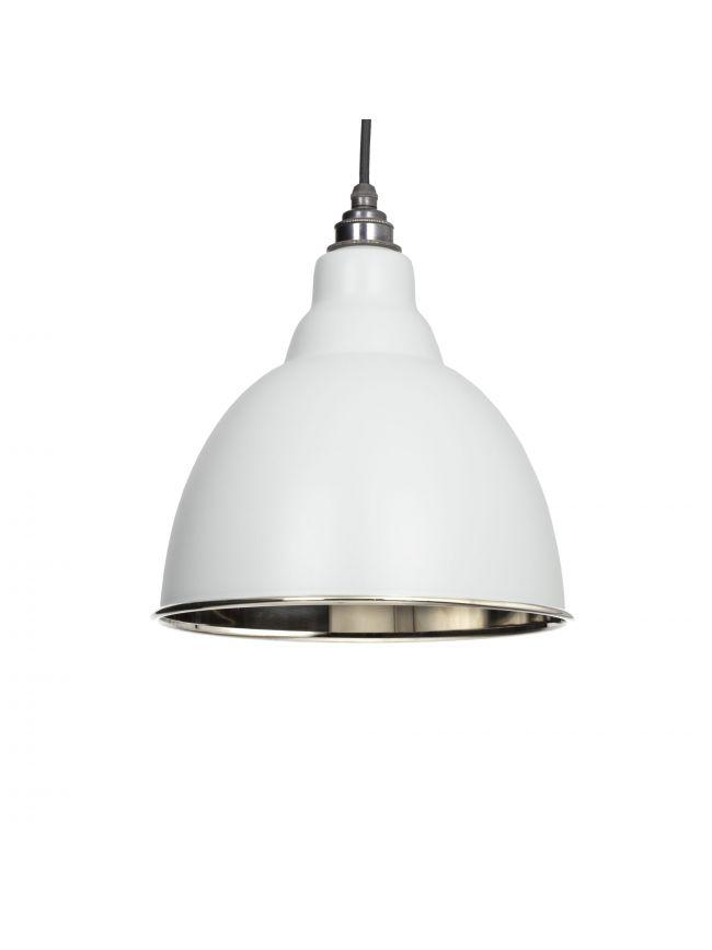Light Grey Smooth Nickel Brindley Pendant