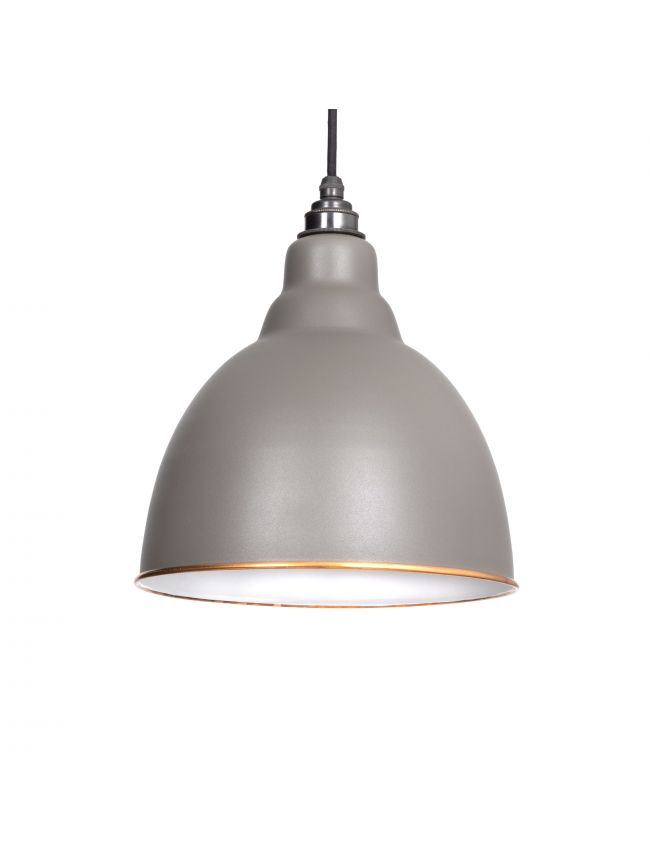 The Brindley Pendant in Warm Grey
