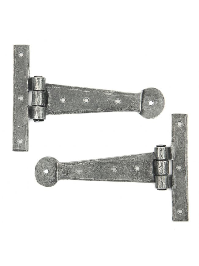 "Pewter 6"" T Hinge (pair)"