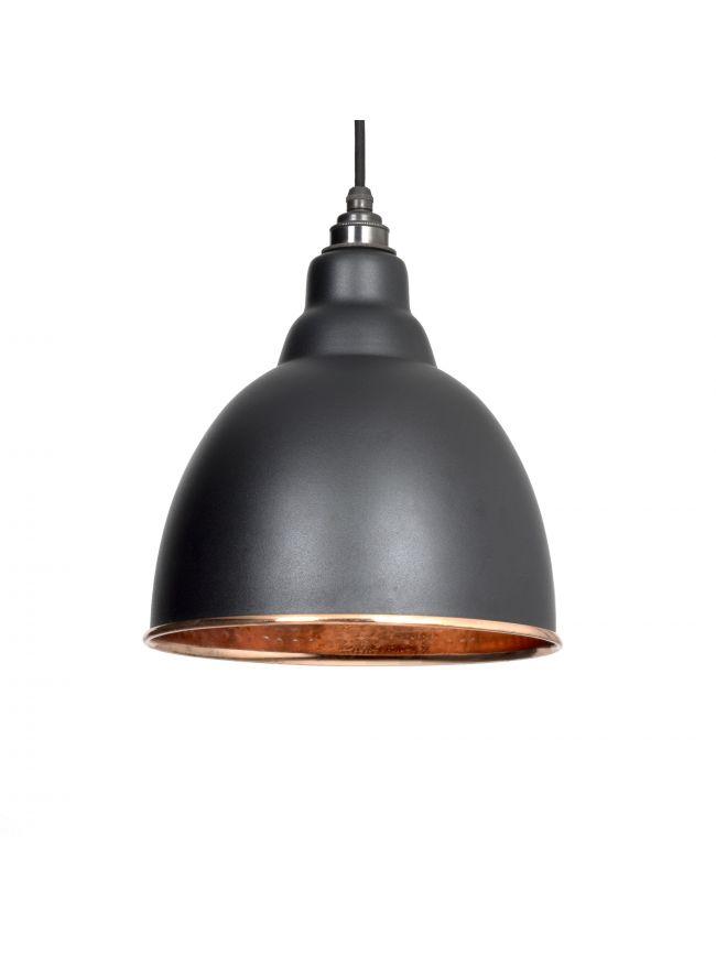 Black Hammered Copper Brindley Pendant