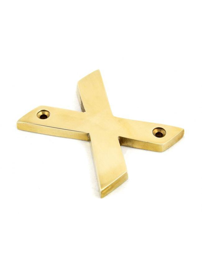 Polished Brass Letter X