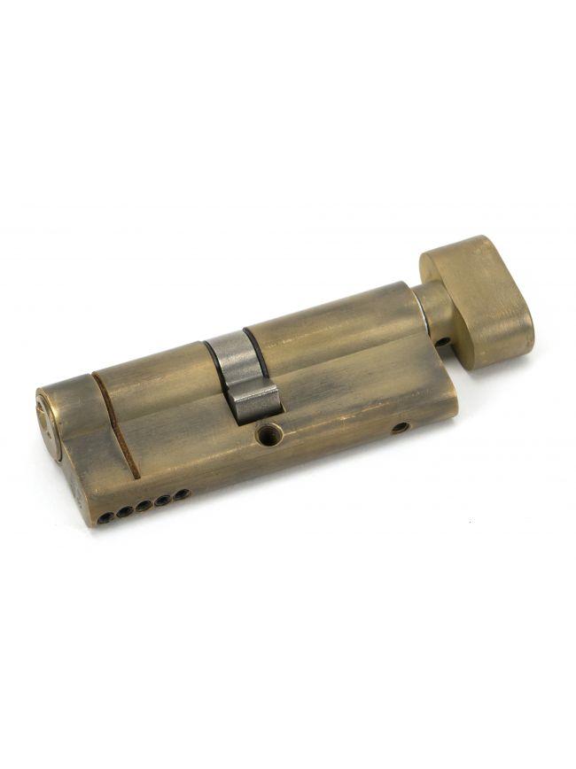 Aged Brass 40/40 5pin Euro Cylinder/Thumbturn KA
