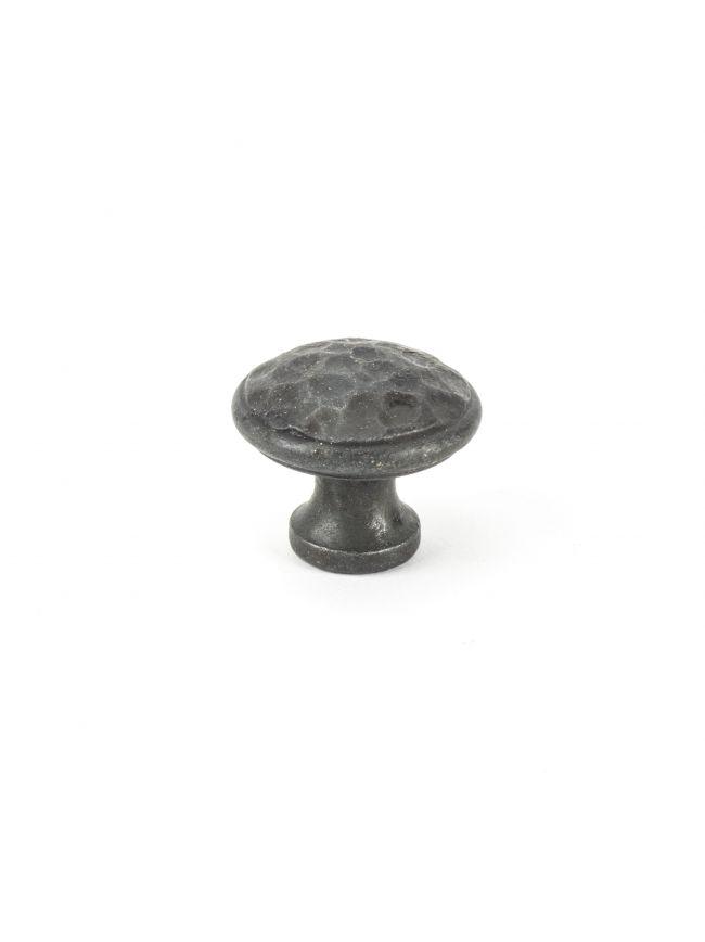 Beeswax Hammered Cabinet Knob - Medium