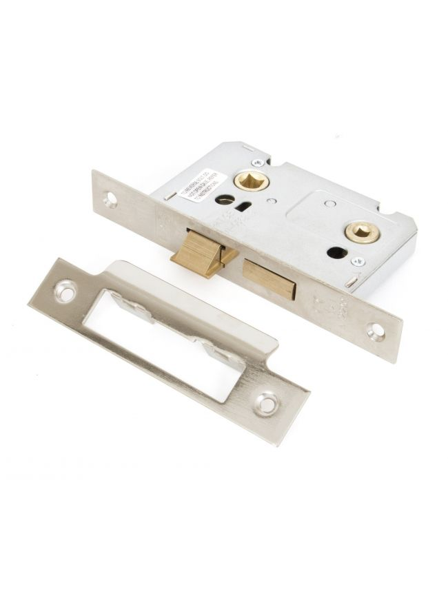 Nickel 2½'' Bathroom Mortice Lock