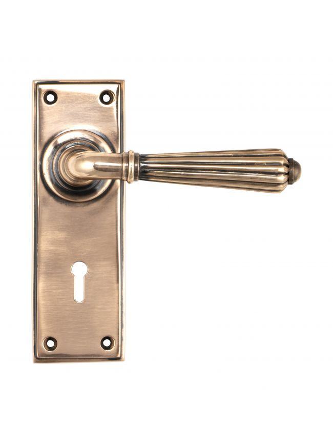 Polished Bronze Hinton Lever Lock Set