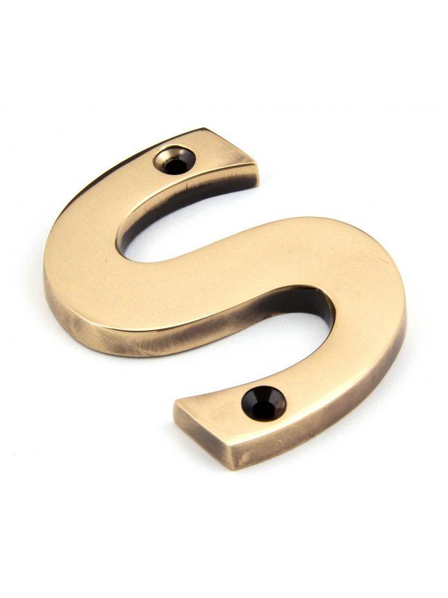 Polished Bronze Letter S