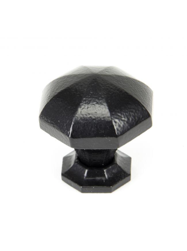 Black Octagonal Cabinet Knob - Large