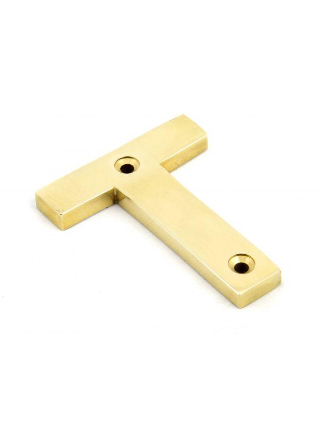 Polished Brass Letter T