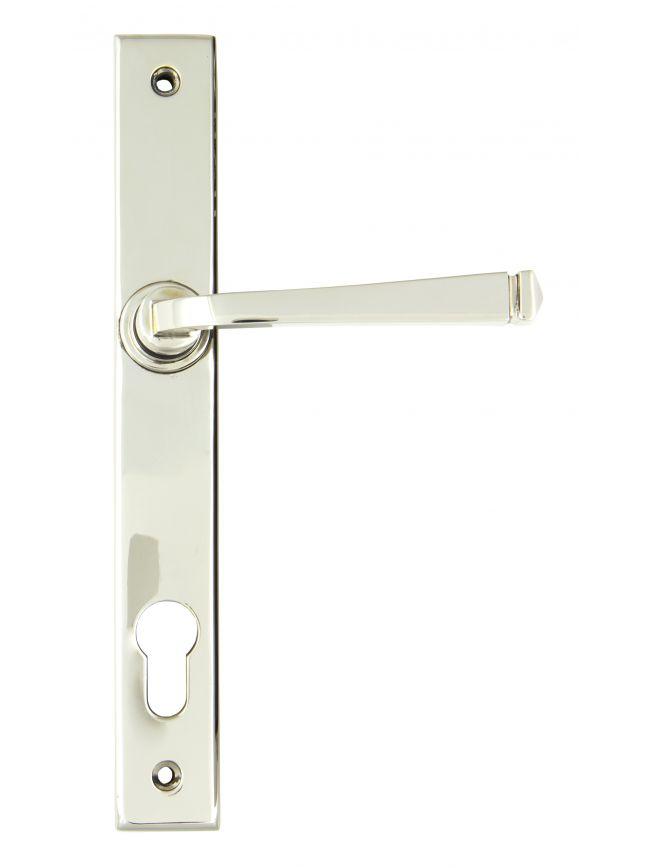 Polished Nickel Avon Slimline Lever Espag. Lock Set