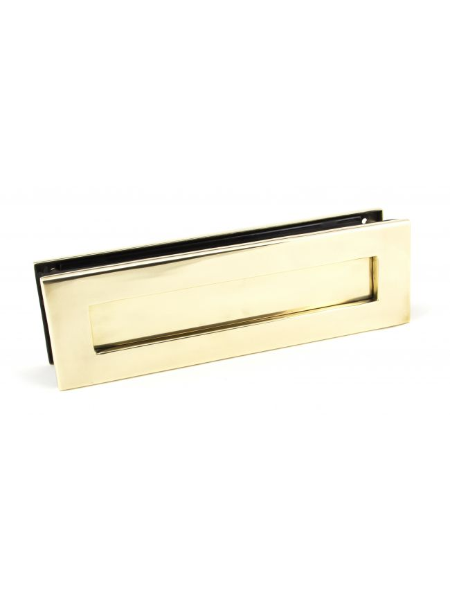 Aged Brass Traditional Letterbox