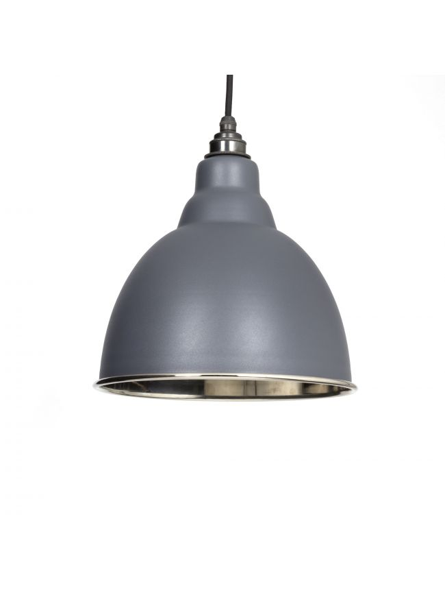 Dark Grey Smooth Nickel Brindley Pendant