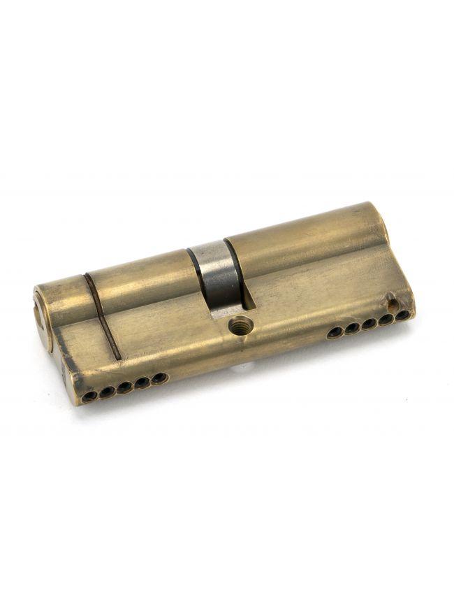 Aged Brass 40/40 5pin Euro Cylinder KA