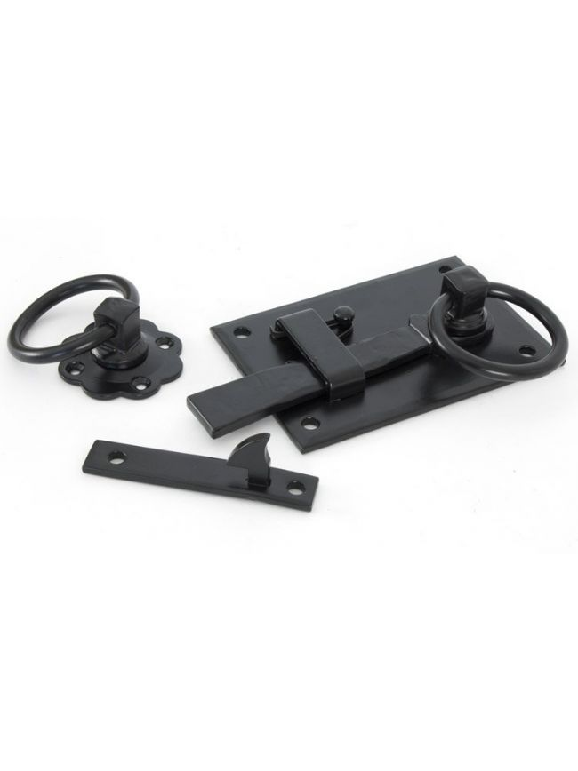Black Cottage Latch - RH