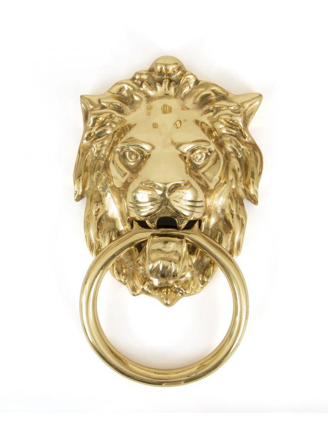 Polished Brass Lion Head Knocker