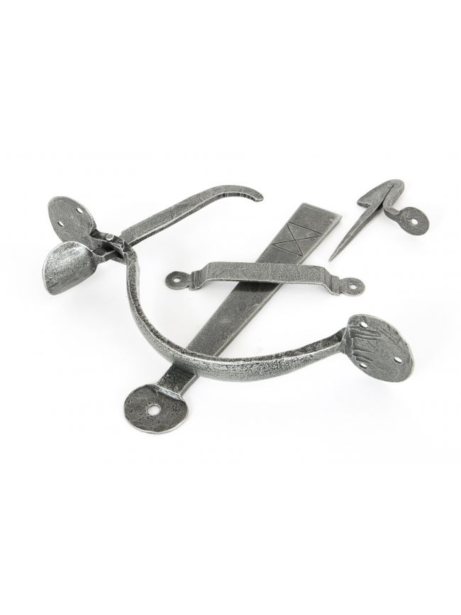Pewter Heavy Bean Thumblatch