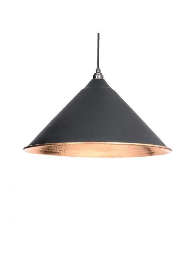 Black Hammered Copper Hockley Pendant
