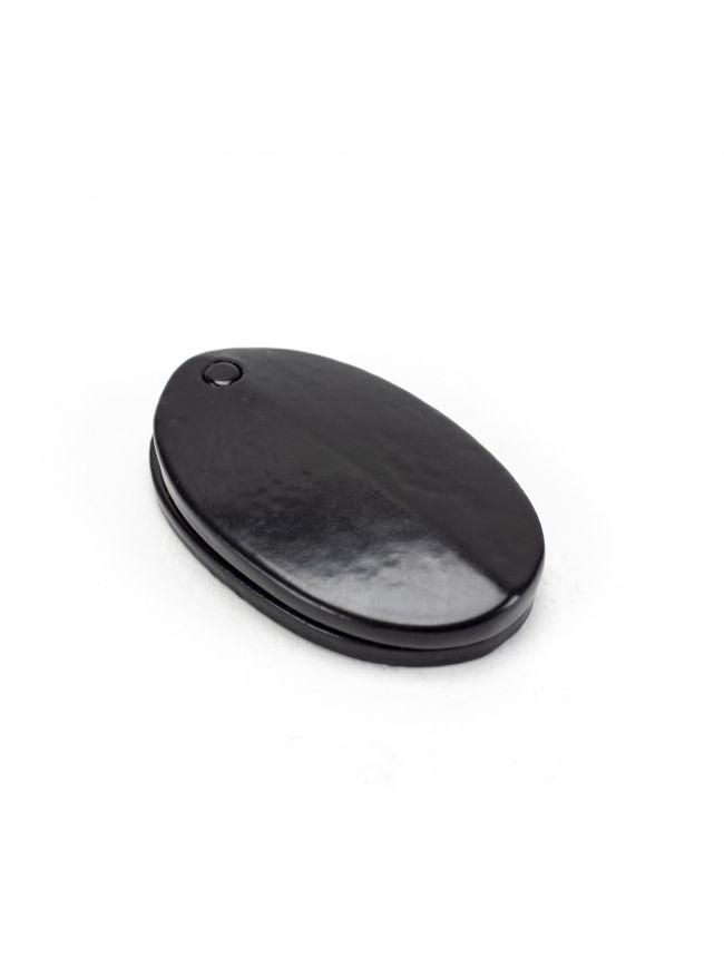 Black Oval Escutcheon & Cover