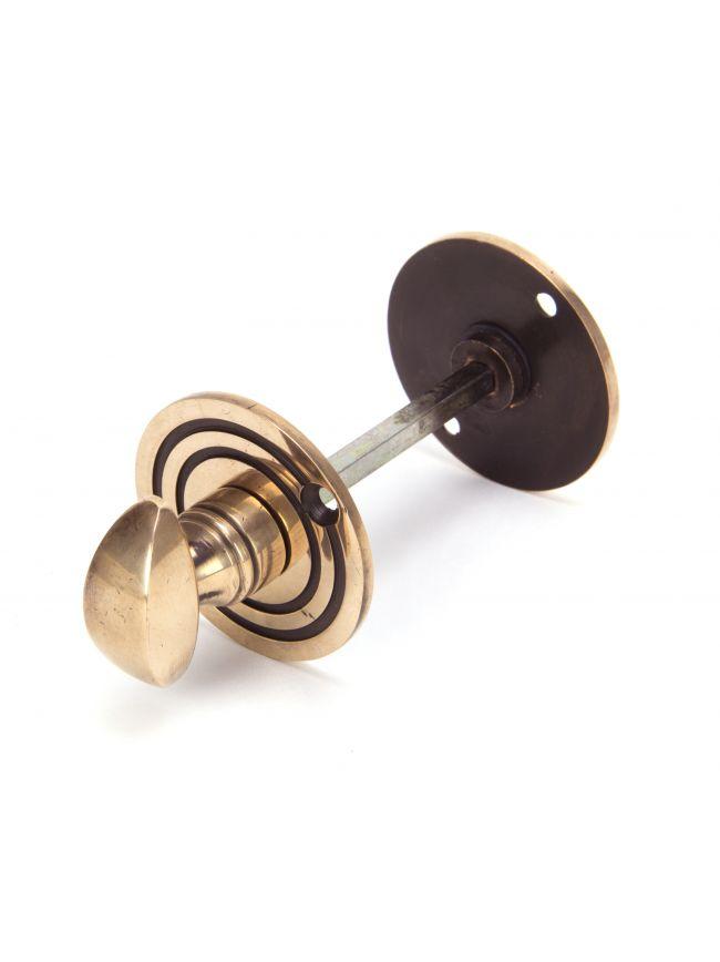 Polished Bronze Round Bathroom Thumbturn