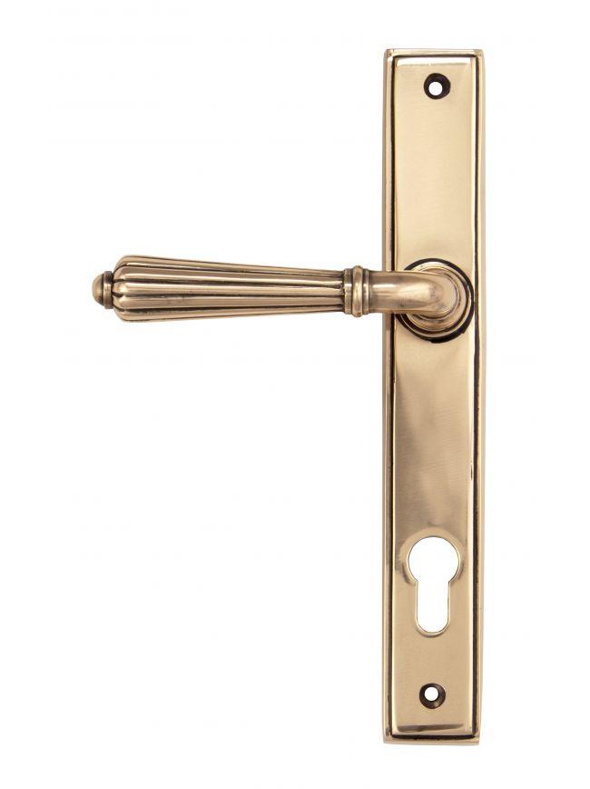 Polished Bronze Hinton Slimline Lever Espag. Lock Set
