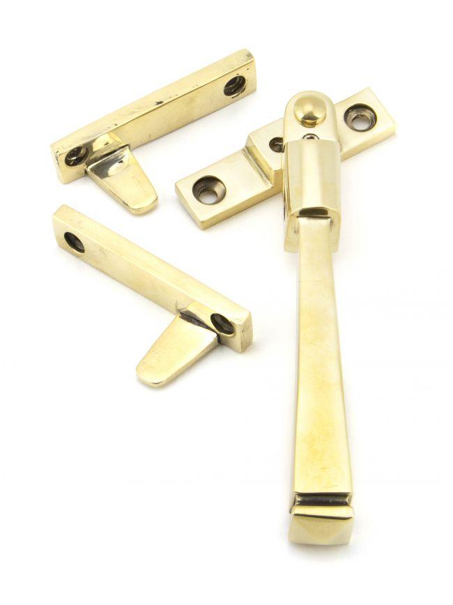 Aged Brass Night-Vent Locking Avon Fastener